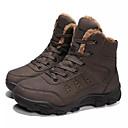 hesapli Erkek Botları-Erkek Ayakkabı Tüylü / PU Kış Günlük Çizmeler Yarı-Diz Boyu Çizmeler Dış mekan için Siyah / Deve
