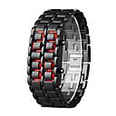 billige Magnetiske leker-Herre Digital Watch Quartz Svart 30 m LCD Digital Fritid Mote - Oransje / Svart Sølv / Blå Sølv / Rød