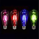 olcso LED világítás-4db 4 W 360 lm E26 / E27 Izzószálas LED lámpák ST64 4 LED gyöngyök COB Parti / Dekoratív / Szabadság Piros / Kék / Zöld 220-240 V