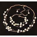 abordables Collares-Mujer Trenzado Conjunto de joyas - Perla Artificial Étnico, Dulce Incluir Los sistemas nupciales de la joyería Dorado / Plata Para Navidad Cita