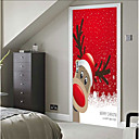 cheap Wall Stickers-Door Stickers - 3D Wall Stickers Christmas Decorations / Holiday Indoor / Outdoor