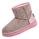 cheap Women's Boots-Women's Snow Boots PU(Polyurethane) Fall Minimalism Boots Flat Heel Round Toe Mid-Calf Boots Black / Gray / Pink
