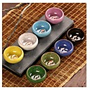 hesapli Kupalar ve Bardaklar-6 adet kung fu çay seti seramik çay setleri çay fincanı chinesetravel çay seti drinkware kahve&çay setleri