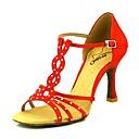 رخيصةأون أحذية لاتيني-نسائي أحذية رقص ستان كعب كعب مثير أحذية الرقص زهري / اللوز / عاري / أداء / جلد / تمرين