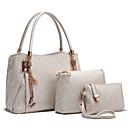 preiswerte Taschensets-Damen Quaste Bag Set Beutel Sets PU Buchstabe 3 Stück Geldbörse Set Gold / Weiß / Schwarz