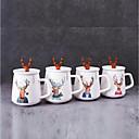 tanie Kubki i filiżanki-Naczynia do picia Filiżanki do herbaty / Szkło / Kubek Porcelana Kreskówki / chłopak prezent / Girlfriend prezent Impreza / Wieczór