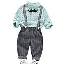 ieftine Set Îmbrăcăminte Băieți Bebeluși-Bebelus Băieți De Bază Zilnic Buline Manșon Lung Regular Bumbac Set Îmbrăcăminte Trifoi 100 / Copil
