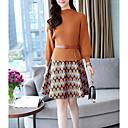 billige Halsbånd-Kvinders slanke sweater / kappe kjole over knæet