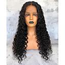 cheap Human Hair Wigs-Unprocessed Human Hair Lace Front Wig Brazilian Hair Loose Wave Black Wig Deep Parting 150% Density Black Women's Long Human Hair Lace Wig Premierwigs