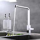 halpa Keittiön lavuaarihanat-Kitchen Faucet - Yksi kahva yksi reikä Kromi Pöytäasennus Nykyaikainen
