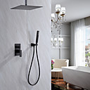 cheap Shower Faucets-Shower Faucet - Contemporary Painted Finishes Shower System Ceramic Valve Bath Shower Mixer Taps / Brass / Single Handle Three Holes
