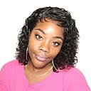 olcso Emberi hajból készült parókák-Remy haj Csipke eleje Paróka Brazil haj Egyenes / Loose Curl Paróka Bob frizura 150% baba hajjal / Természetes hajszálvonal / Afro-amerikai paróka Női Rövid Emberi hajból készült parókák