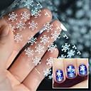 abordables Adhesivos Completos para Uñas-5 pcs Calcomanías de Uñas 3D Copo de Nieve arte de uñas Manicura pedicura Multi Function De moda / Moda Navidad / Festival