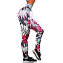 billige Fitness, løbe- og yogatøj-Dame Daglig Basale Legging - Blomstret / Geometrisk Medium Talje