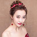 ieftine Accesorii Lolita-Decorațiuni Cercei Rotunzi Seturi de bijuterii de mireasă klasické Tradițional Pentru femei Rosu Floral Mozaic Vintage Veșminte de cap Cercel Alte materiale Aliaj Costume
