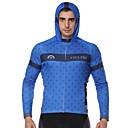cheap Cycling Pants, Shorts, Tights-ILPALADINO Men's Long Sleeve Cycling Jersey - Blue Fashion Bike Jersey Top, Ultraviolet Resistant, Winter, Elastane