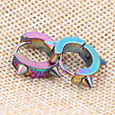 cheap Men's Earrings-Men's Retro Stud Earrings - Rock, Hip-Hop, Steampunk Jewelry Silver / Rainbow / Blue For Street Club / 1 Pair