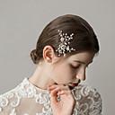 povoljno Party pokrivala za glavu-Biseri Kosa za kosu s Štras 1 komad Vjenčanje / Zabava / večer Glava