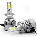 cheap Tattoo Power Supplies-2PCS H1 H3 H7 H8 H9 H11 Car Light Bulbs 36W COB 3800LM 2 LEDs Headlamp
