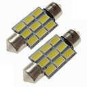 cheap Car Exterior Lights-SENCART 2pcs 36mm Car Light Bulbs 4.5 W SMD 5730 270 lm 9 LED Interior Lights / Exterior Lights For