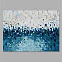 halpa Öljymaalaukset-Hang-Painted öljymaalaus Maalattu - Abstrakti Moderni Ilman Inner Frame / Valssatut kankaat