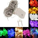 cheap LED String Lights-BRELONG® 10m String Lights 100 LEDs SMD 0603 Warm White / RGB / White Waterproof / Party / Decorative 220-240 V 1pc