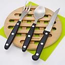 זול כלי אוכל-כלי אוכל 3pcs ידידותי לסביבה Heatproof עיצוב חדש פלסטיק ומתכת פלדת על חלד פלסטי מזלג ארחות ערב סכין ארוחת ערב