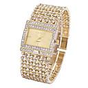 Недорогие Часы-браслеты-Жен. Наручные часы Diamond Watch золотые часы Японский Кварцевый Нержавеющая сталь Серебристый металл / Золотистый Секундомер Светящийся Повседневные часы Аналоговый Дамы Блестящие Элегантный стиль -