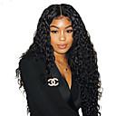 hesapli Bonesiz-Kökten Saç 6x13 Kapanma Ön Dantel Peruk Derin ayrılık Kardashian stil Düz Brezilya Saçı Dalgalı Peruk % 150 % 180 Saç yoğunluğu 8-22 inç Ayarlanabilir Isı Dirençli Klipsli Ön Mızraplı Ağartılmış knot