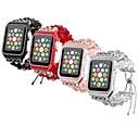 preiswerte Uhren Zubehör-Metalschale Uhrenarmband Gurt für Apple Watch Series 4/3/2/1 Schwarz / Weiß / Rot 23cm / 9 Zoll 2.1cm / 0.83 Inch