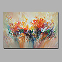 cheap People Paintings-Oil Painting Hand Painted - Abstract Landscape Comtemporary Modern Stretched Canvas / Rolled Canvas
