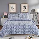 billige Quilts og sengetepper-Komfortabel - 2stk Trekk / 1 Stk Teppe Høst / Vinter Bomull Geometrisk