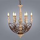 povoljno Lusteri-6-light industrijski luster uplight wood wood / bambusovo drvo / bambus novi dizajn 110-120v / 220-240v
