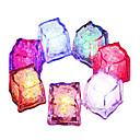 olcso Karácsonyi dekoráció-6db diy színes flash led jégkocka esküvői fesztivál party dekor kellékek világító led izzó ivás jégkockák hét színben