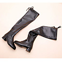 povoljno Zvučnici-Djevojčice Cipele PU Zima Modne čizme Čizme Patent-zatvarač za Djeca Crn / Čizme preko koljena