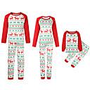 ieftine Set Îmbrăcăminte De Familie-Familie Uite Activ Crăciun / Zilnic Animal Manșon Lung Poliester Set Îmbrăcăminte Roșu-aprins Fată 110