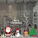 رخيصةأون ملصقات الحائط-فيلم نافذة وملصقات زخرفة معاصر / عيد الميلاد وردة / شخصية PVC ملصق النافذة
