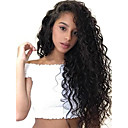 cheap Human Hair Wigs-Remy Human Hair 6x13 Closure Lace Front Wig Deep Parting style Brazilian Hair Loose Curl Wig 150% 180% Density Best Quality Thick Natural Hairline with Clip Glueless Natural Women's Mid Length Human