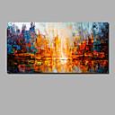 billige Abstrakte malerier-Hang malte oljemaleri Håndmalte - Abstrakt / Landskap Moderne Inkluder indre ramme / Valset lerret / Stretched Canvas