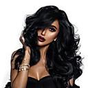 economico Parrucche di capelli umani con retina-capelli naturali Remy 360 frontale Parrucca Separazione profonda Kardashian stile Indiano Ondulato Parrucca 150% 180% Densità dei capelli con i capelli del bambino Migliore qualità vendita calda