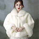 cheap Wedding Wraps-Sleeveless Faux Fur Wedding / Birthday Women's Wrap With Crystal Brooch Capelets