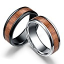 cheap Videogame Cosplay Accessories-Men's Retro Band Ring Wooden Stainless Steel Wood Simple Ring Jewelry Black / Silver For Wedding Daily Masquerade Engagement Party Prom 8 / 9 / 10 / 11 / Natural Wood