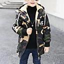 tanie Kurtki i płaszcze dla chłopców-Dzieci Dla chłopców Moda miejska Codzienny / Wyjściowe Nadruk Długi rękaw Długie Jedwab wiskozowy Trenczy Zieleń wojskowa 140