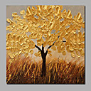 cheap Landscape Paintings-Oil Painting Hand Painted - Landscape / Floral / Botanical Comtemporary / Modern Stretched Canvas