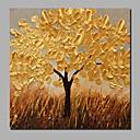 billige Vegglamper-Hang malte oljemaleri Håndmalte - Landskap / Blomstret / Botanisk Moderne Inkluder indre ramme / Stretched Canvas
