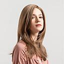 povoljno PU & SM-Sintetičke perike Prirodno ravno Svjetlosmeđ Stražnji dio Svjetlosmeđ Sintentička kosa 18 inch Žene Novi Dolazak / Prirodna linija za kosu Svjetlosmeđ Perika Srednja dužina Capless MAYSU