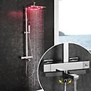 povoljno Slavine za tuš-Slavina za tuš / Kupaonica Sudoper pipa - Suvremena Chrome Zidne slavine Keramičke ventila Bath Shower Mixer Taps / Brass / Dvije ručke dvije rupe