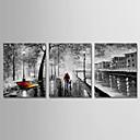 povoljno Apstraktno slikarstvo-Hang oslikana uljanim bojama Ručno oslikana - Sažetak Moderna Uključi Unutarnji okvir / Tri plohe / Prošireni platno