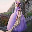 olcso Gyermek kosztümök-Hercegnő Vintage Jelmez Lány Gyermek Ruhák Jelmez Bulikra Bíbor Régies (Vintage) Cosplay Poliészter Ujjatlan Póló