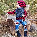 ieftine Seturi Îmbrăcăminte Băieți-Copii / Copil Băieți Activ / De Bază Zilnic / Sport Plisat Peteci Manșon Lung Regular Bumbac / Poliester / Spandex Set Îmbrăcăminte Roșu-aprins 100